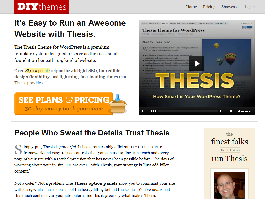diy thesis wordpress theme