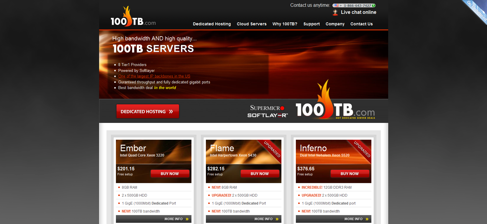 100TB.com Dedicated web hosting